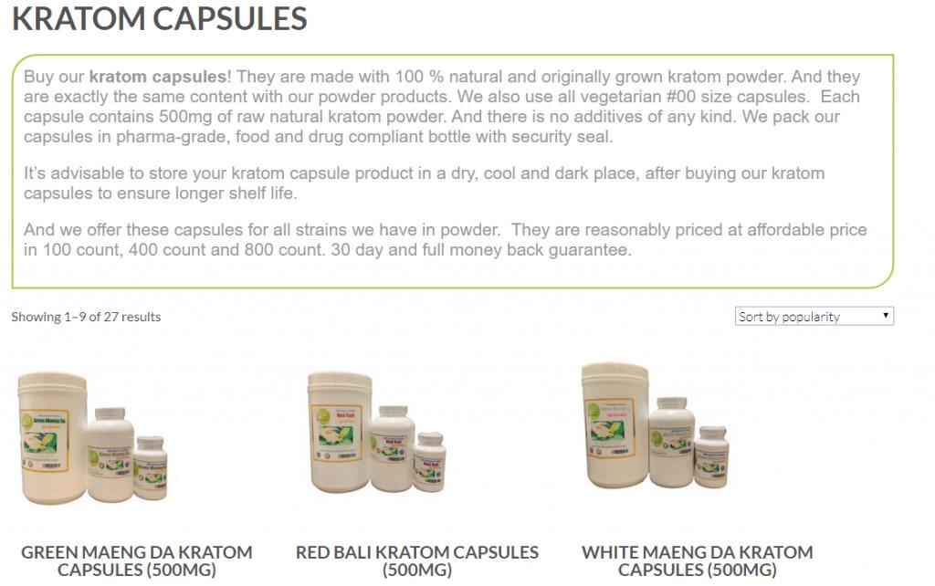 buy kratom capsules
