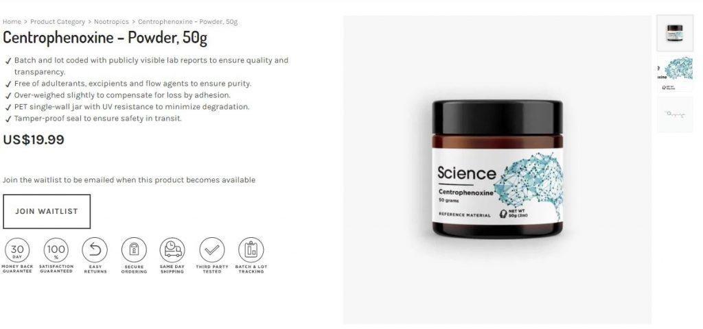 buy Centrophenoxine
